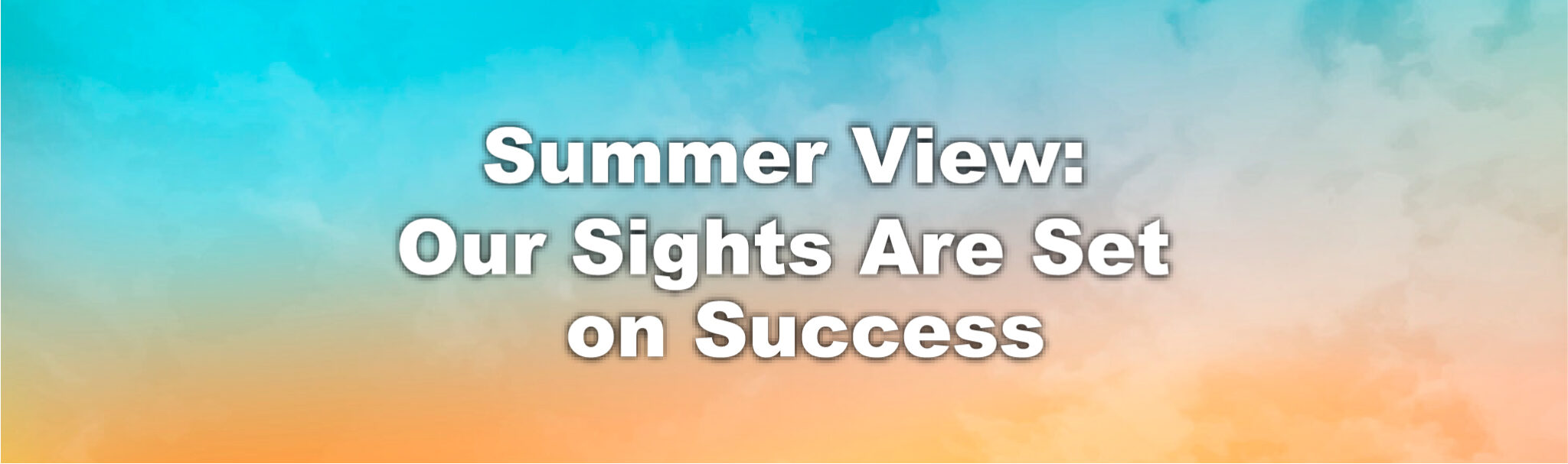 Summer View: Our Sights Are Set on Success